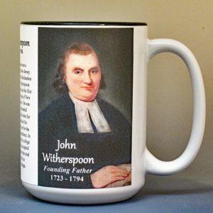 John Witherspoon, Declaration of Independence signatory biographical history mug.