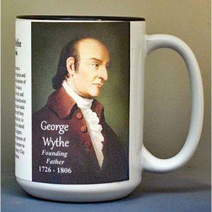 George Wythe, Declaration of Independence signatory biographical history mug.
