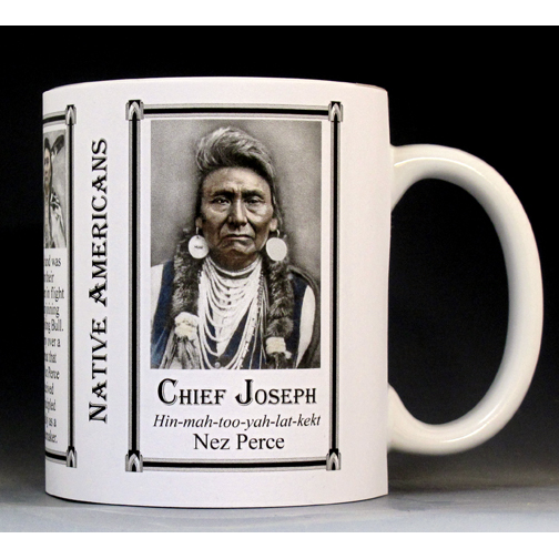 Chief Joseph Native American history mug.