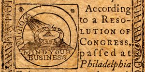 Image of US Currency from 1776.