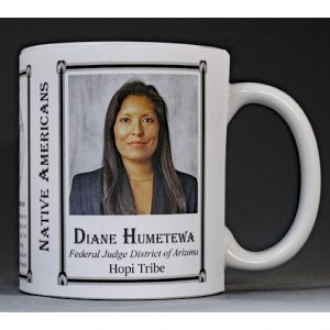 Diane Humetewa, Native American biographical history mug.