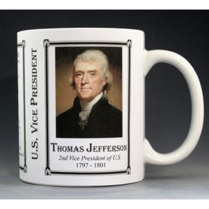 Thomas Jefferson US Vice President history mug.