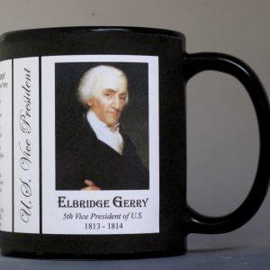 Elbridge Gerry U.S. Vice President history mug.