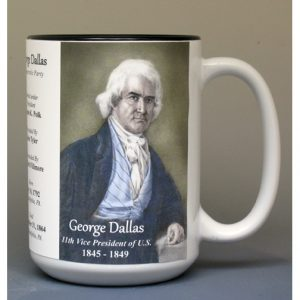 George Dallas, US Vice President biographical history mug.