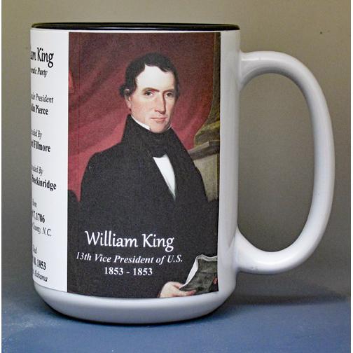 William King, US Vice President biographical history mug.