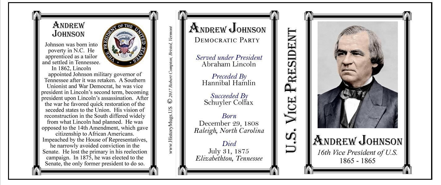 16th Us Vice President Andrew Johnson Historymugs Us