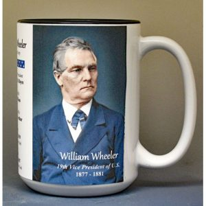 William Wheeler, US Vice President biographical history mug.