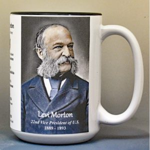 Levi Morton, US Vice President biographical history mug.