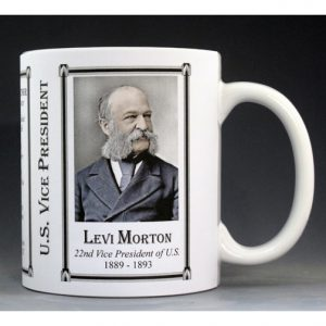 Levi Morton US Vice President biographical history mug.