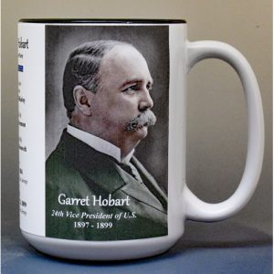 Garret Hobart, US Vice President biographical history mug.