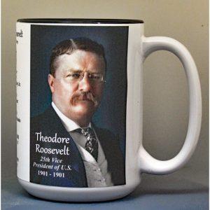 Theodore Roosevelt, US Vice President biographical history mug.