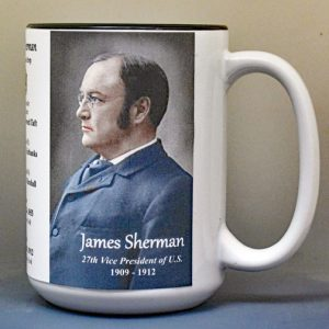 James Sherman, US Vice President biographical history mug.