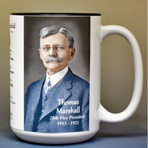 Thomas Marshall, US Vice President biographical history mug.