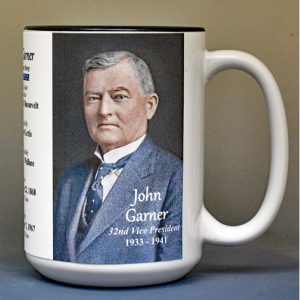 John Garner, US Vice President biographical history mug.