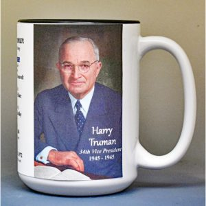 Harry Truman, US Vice President biographical history mug.