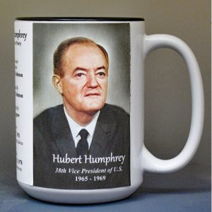Hubert H. Humphrey, US Vice President biographical history mug.