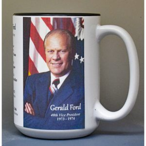 Gerald R. Ford, US Vice President biographical history mug.