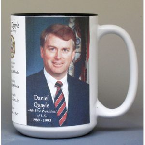 Dan Quayle, US Vice President biographical history mug.