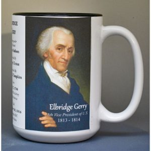 Elbridge Gerry, US Vice President biographical history mug.