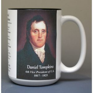 Daniel Tompkins, US Vice President biographical history mug.