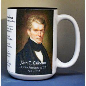 John Calhoun, US Vice President biographical history mug.