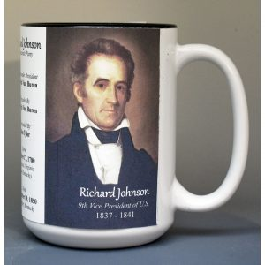 Richard Johnson, US Vice President biographical history mug.