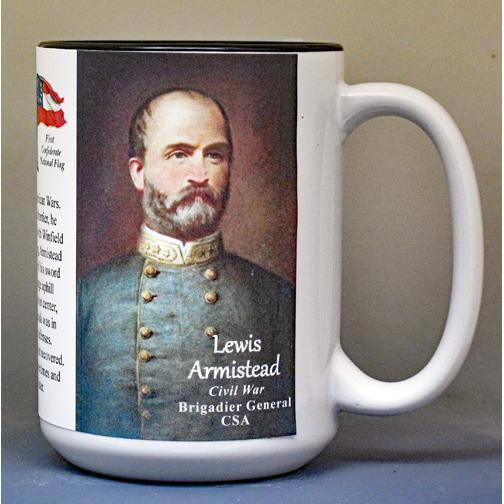 Lewis Armistead, Battle of Gettysburg biographical history mug.