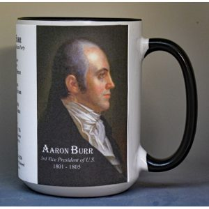Aaron Burr, US Vice President biographical history mug.