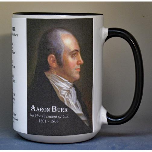 Aaron Burr, US Vice President biographical history mug.
