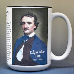 Edgar Allan Poe, author biographical history mug.