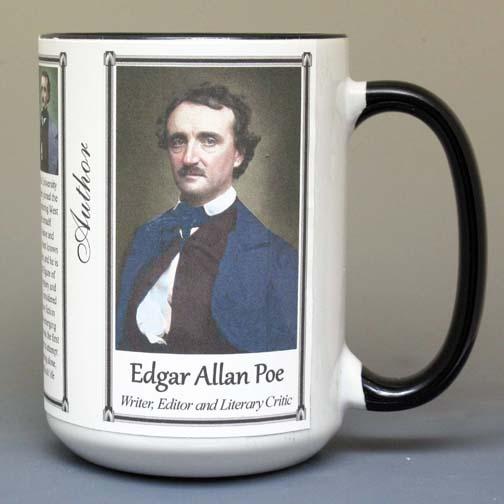 Edgar Allan Poe, author biographical history mug.