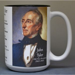 John Tyler US Vice President history mug.
