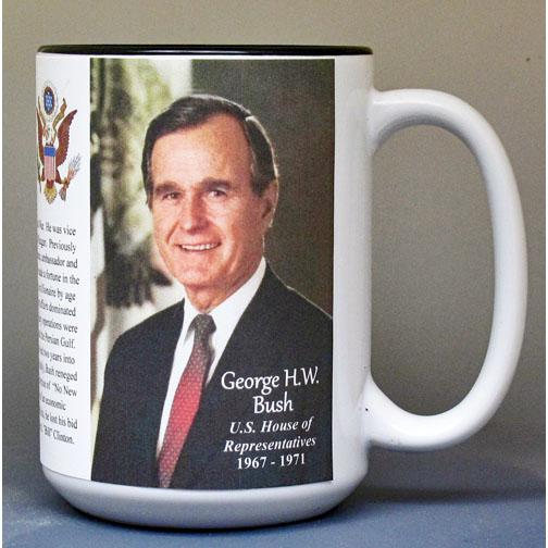 George H.W. Bush, US House of Representatives biographical history mug.