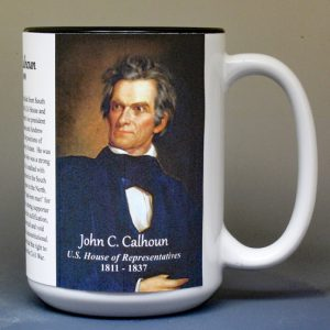 John C. Calhoun US Representative biographical history mug.