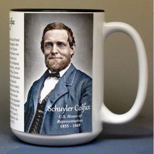 Schuyler Colfax, US Representative biographical history mug.