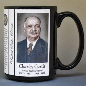 Charles Curtis, US Senator biographical history mug.