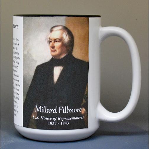 Millard Fillmore, US Representative biographical history mug.