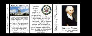 Elbridge Gerry US Representative history mug tri-panel.
