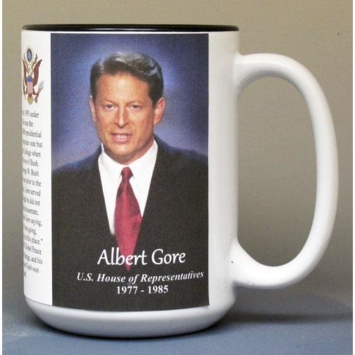 Al Gore, US House of Representatives biographical history mug.