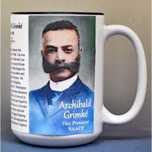 Archibald Grimké, NAACP Vice President, biographical history mug.