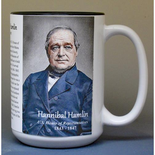 Hannibal Hamlin, US Representative biographical history mug.