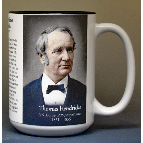 Thomas Hendricks, US House of Representatives biographical history mug.