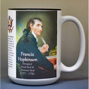 Francis Hopkinson, designer of the US Treasury seal biographical history mug.