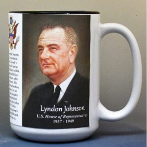Lyndon B. Johnson, US House of Representatives biographical history mug.