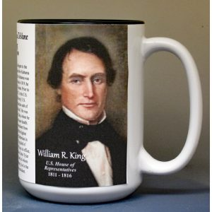 William King, US Representative biographical history mug.