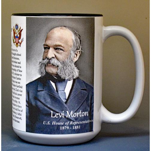 Levi Morton, US Representative biographical history mug.
