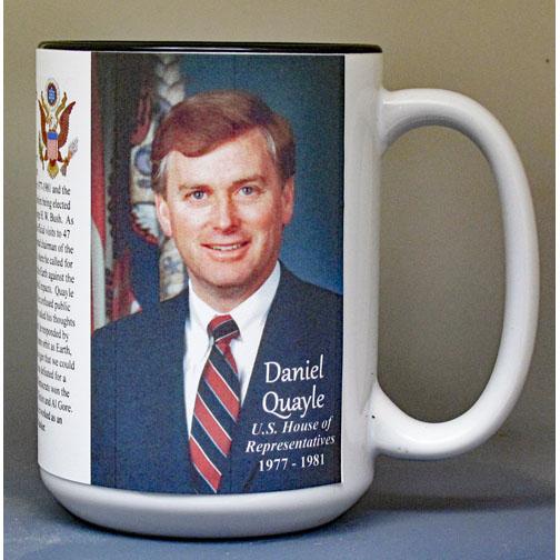 Dan Quayle, US House of Representatives biographical history mug.