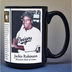 Jackie Robinson baseball biographical history mug.