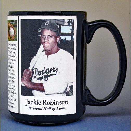 Jackie Robinson baseball history mug.