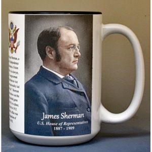 James Sherman, US Representative biographical history mug.